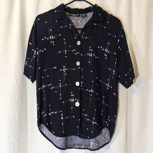 3 For $15 Navy Button Down Short Sleeve Sz M